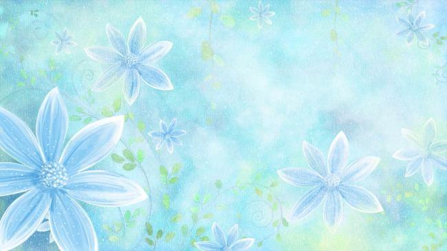 清新淡雅花朵背景素材