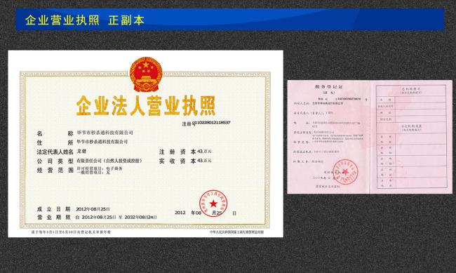 营业执照 税务登记证模板下载(图片编号:10937037)图片