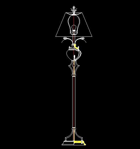 欧式落地灯 cad设计图纸