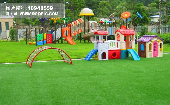幼儿园图片图片下载 幼儿园环境 游乐场 环境创设 草坪 绿色树木 高清