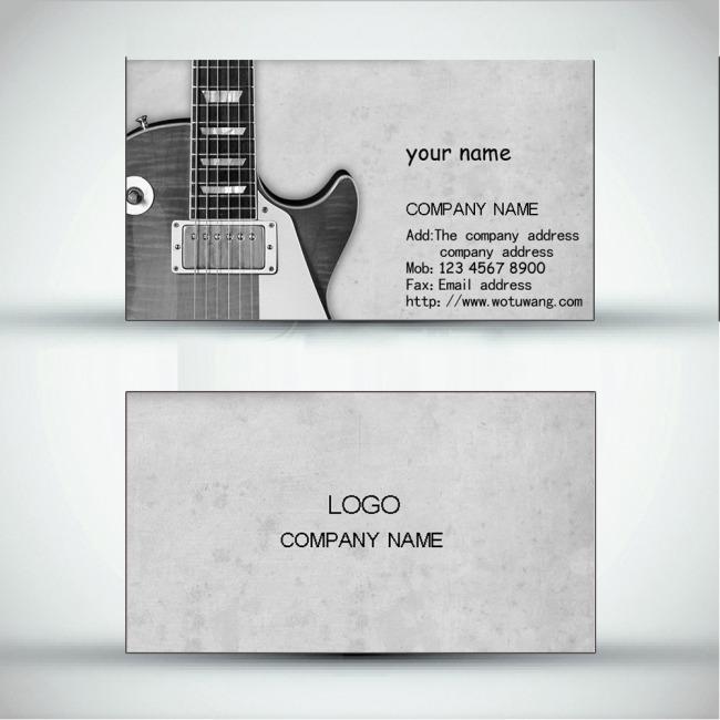 平面设计 vip卡|名片模板 休闲娱乐名片 > 吉他手名片  下一张&