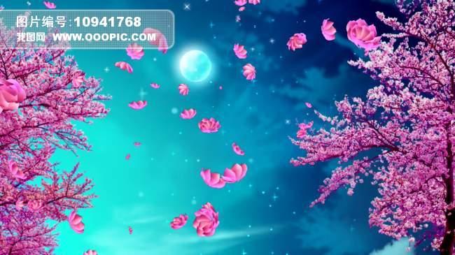 唯美樱花树樱花动态led视频素材