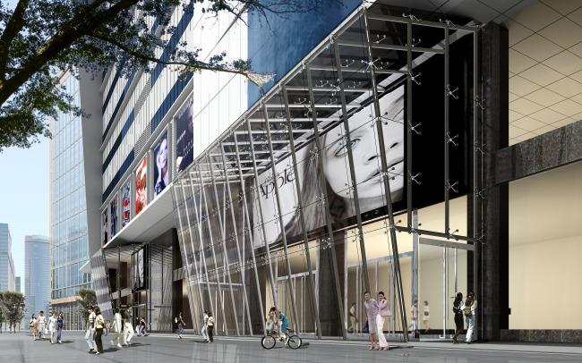 商场门头设计外立面设计效果图