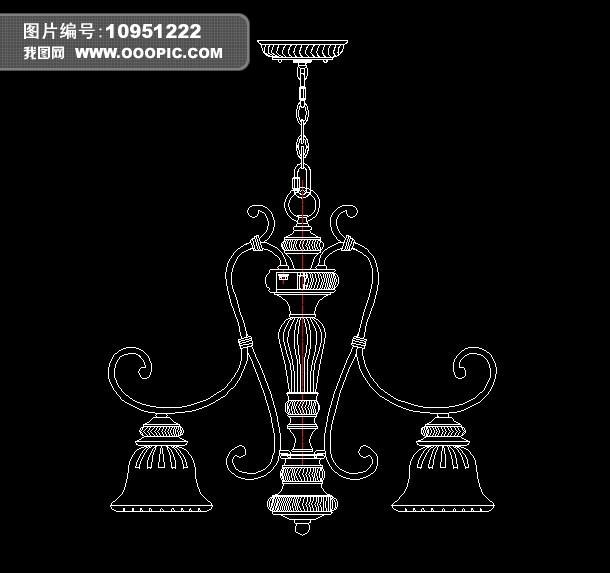欧式吊灯cad设计图纸模板下载(图片编号:10951222)