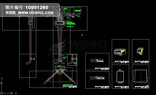 欧式壁灯系列CAD设计图纸模板下载 10951260 CAD图纸 背景墙