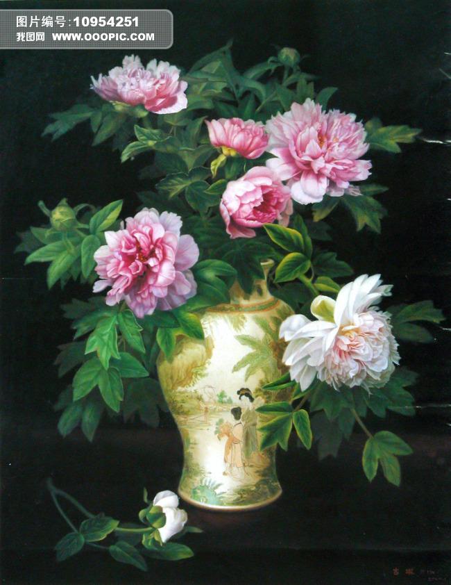 花卉油画风景油画花卉花朵美术