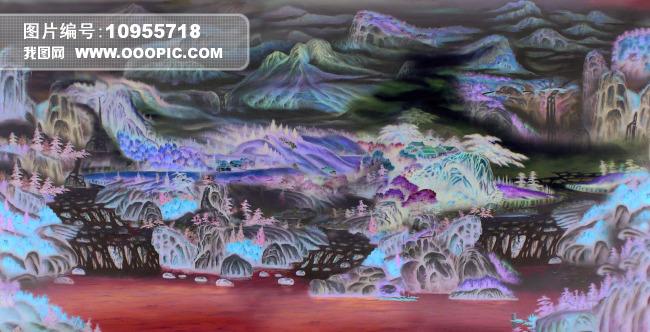 田园手绘风景油画