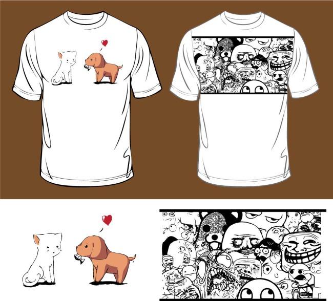 创意t恤衫设计图