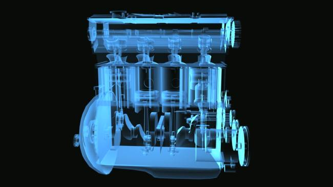 气缸 工作 原理 透视 透明 高清 视频 动态 素材 背景 立体 三维 3d