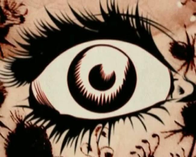 【mov】卡通动画动态眼睛特写视频素材