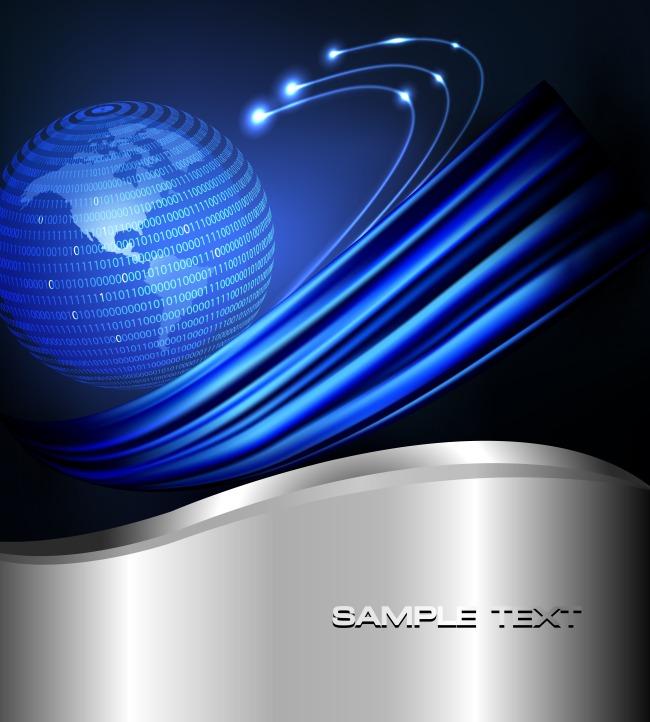 高科技蓝色线条图片
