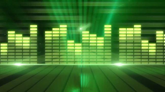 绿色音乐播放器指示灯光柱动态高清视频