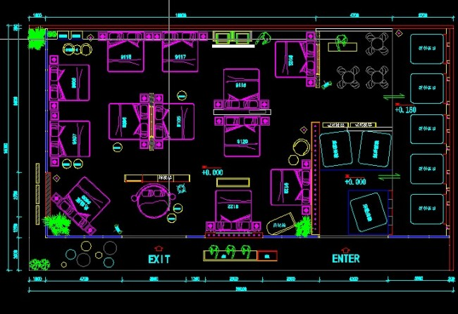 cad平面布置图模板下载(图片编号:10972105)