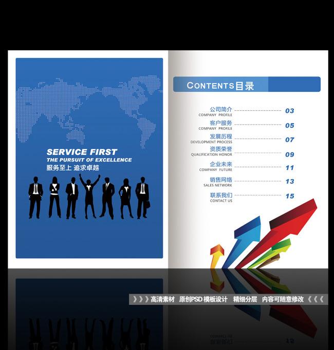 画册目录企业画册目录设计模板