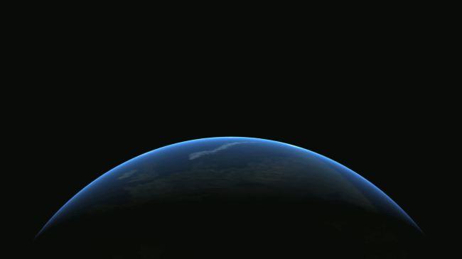 3d蔚蓝地球旋转高清大屏幕背景视频素材