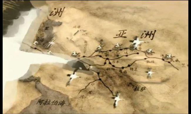 高清清明上河图丝绸之路视频素材