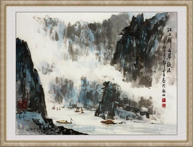 山水画巨幅山水画图片下载 山水画 巨幅山水画 长卷 山水风景 山水图片