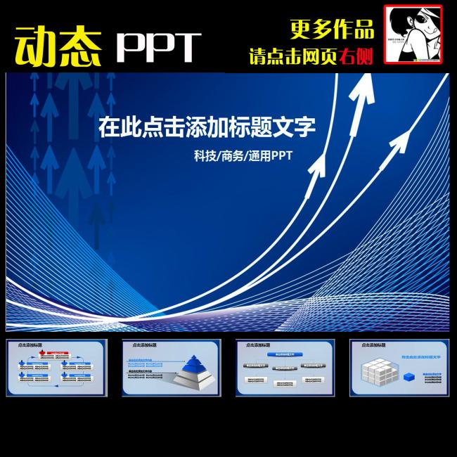 动态业绩报告年度计划年终总结ppt模板