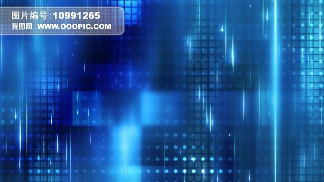 蓝色梦幻高清动态led背景模板下载(图片编号:10991265