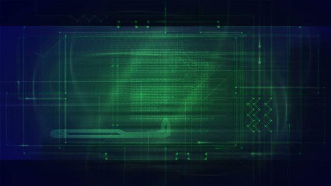 模拟电流线路板背景素材