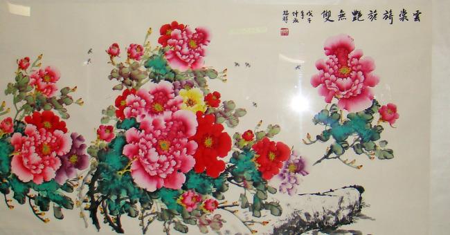 牡丹写意中国画