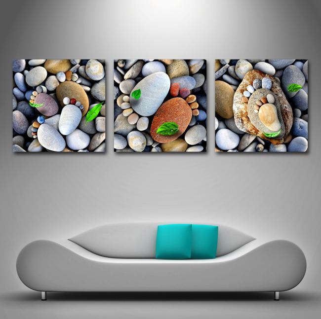 鹅卵石装饰无框画模板下载(图片编号:10995796)_动物