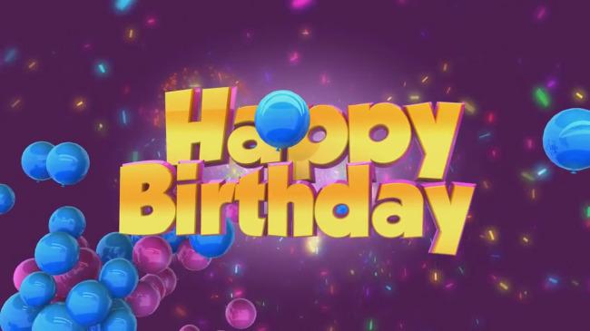 生日快乐英文气球高清视频素材模板下载(图片编号:)图片