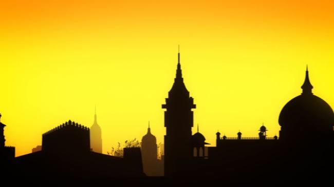 卡通动画欧式风格建筑视频素材