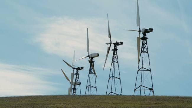 发电机高清视频背景素材图片下载 风力发电电力能源 电能 风能 风车图片