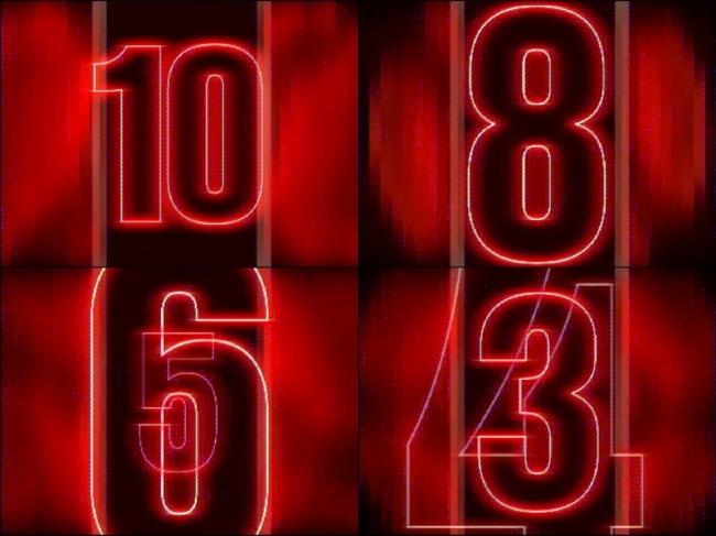 红色数字倒计时视频素材