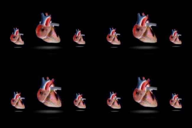 卡通心脏跳动视频背景素材