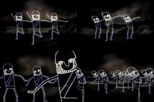 简笔画跳舞娃娃视频素材