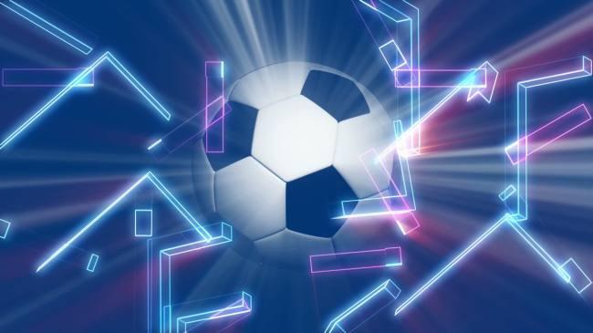 足球发光旋转高清视频背景素材