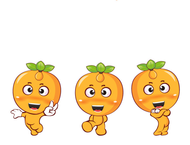 【ai】橙子橘子拟人植物动物可爱卡通吉祥物卡通图片
