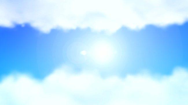 【mov】蓝天阳光白云边框高清视频背景素材