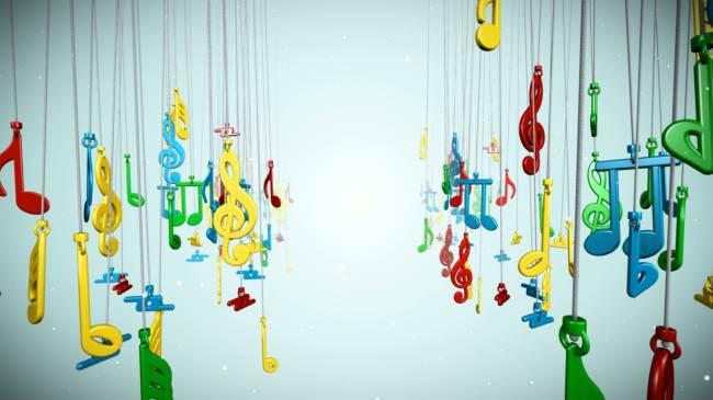 音乐符号动态视频素材