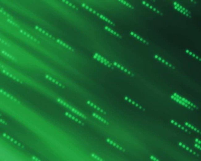 绿色流星雨素材