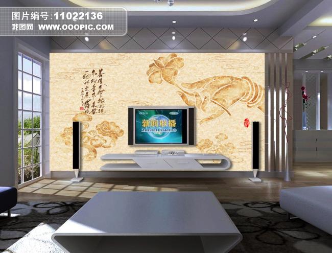 禅意背景墙模板下载(图片编号:11022136)_手绘电视墙