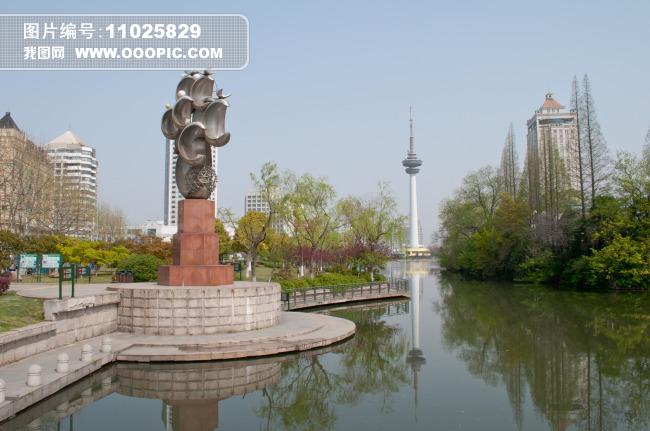 南通濠河风景图片下载