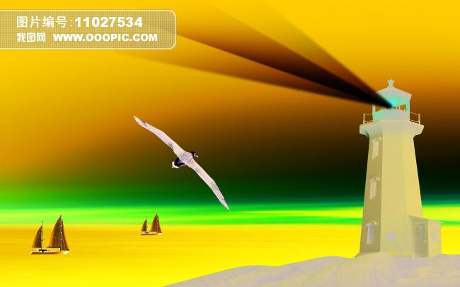 灯塔海鸥图片素材(图片编号:11027534)