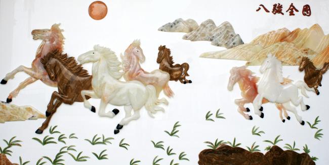 石画 工艺品 花鸟画 浮雕图案 石材工艺 雕刻 玉石 浮雕画 玉雕 装饰画