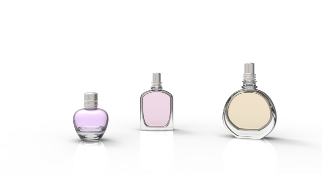 3d素材香水瓶展示