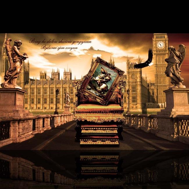 欧式尊贵房地产海报设计psd下载