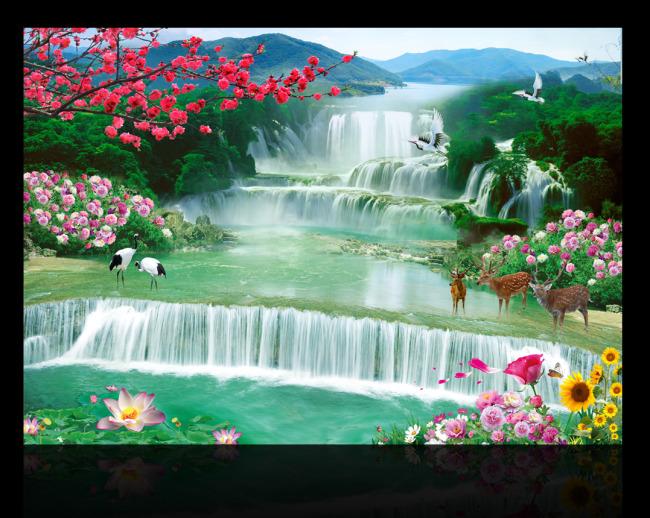 简单风景画_山水风景画