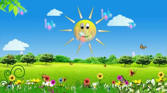 六一儿童节卡通图片儿童画太阳
