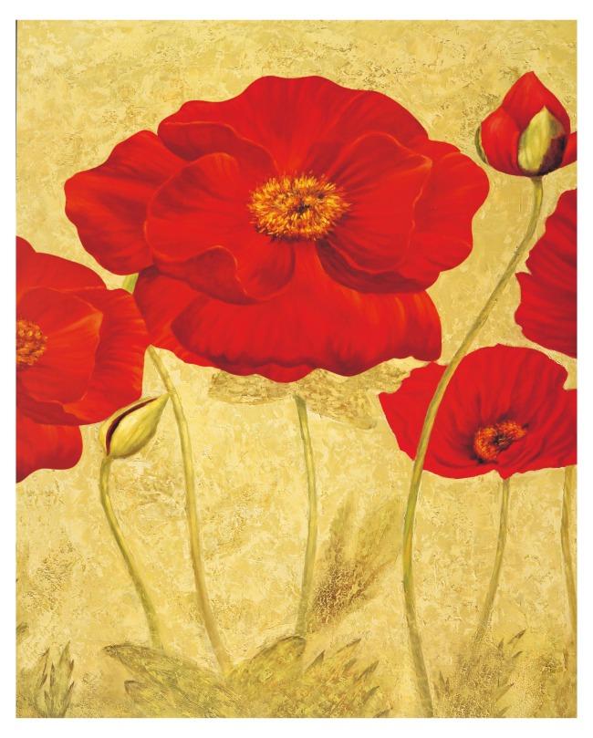 油画 花卉/[版权图片]花卉油画含笑