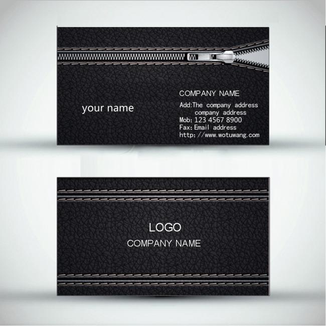 平面设计 vip卡|名片模板 家居装饰 > 黑色皮革创意名片  下一张&nbsp