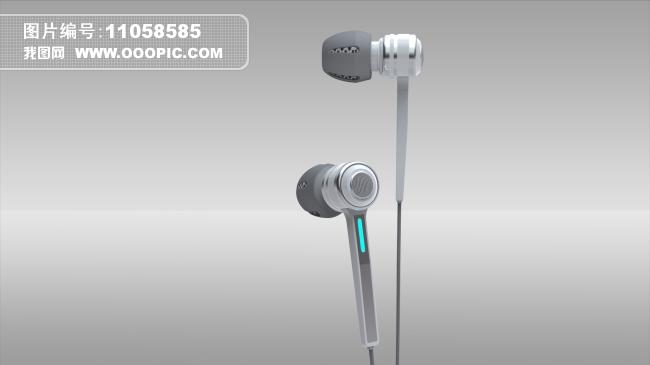(原创)3d耳机模型/iphone耳机