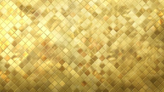 水晶桌面壁纸高清_景深质感闪亮金色水晶高清视频背景素材
