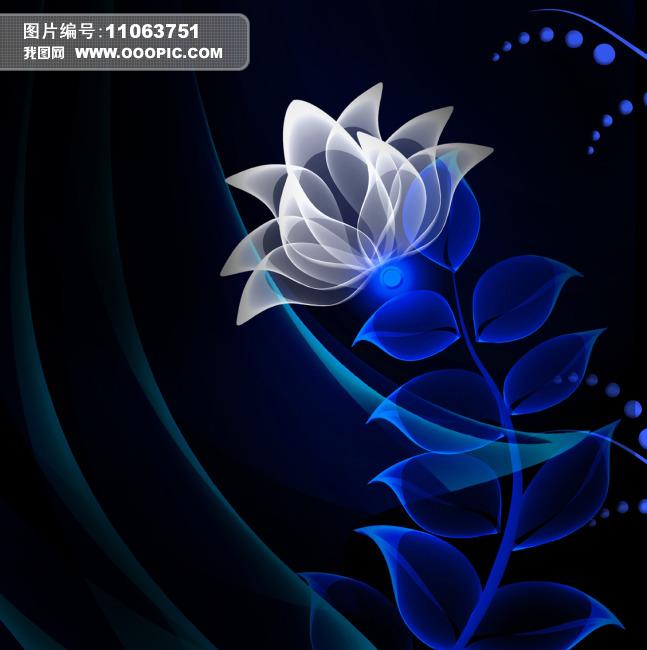 四联花纹装饰画